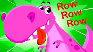 🔴 Row Row Row Your Boat with Dinosaurs! by Little Angel: Nursery Rhymes and Kid's Songs