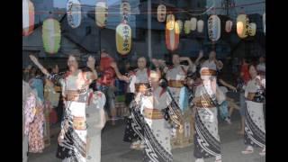 川口市本町2丁目 盆踊り 2017年7月30日 錫杖寺門前にて.