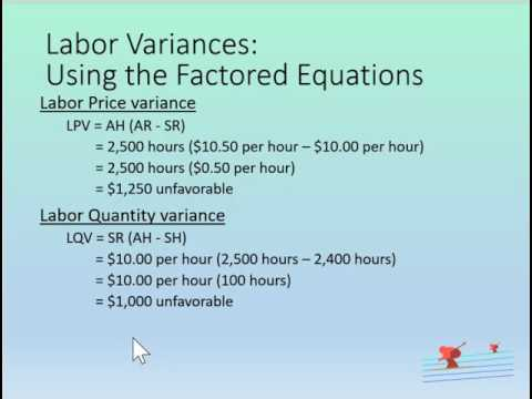 Direct Labor Variances Example