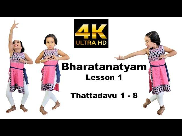 Bharatanatyam Thattadavu 1 to 8 | Bharatnatyam steps | Lesson 1 | tatta adavu | LearnWithPari