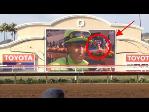 "Delmar Racetrack ""Photo Bombed"" the Jockey that Won!"