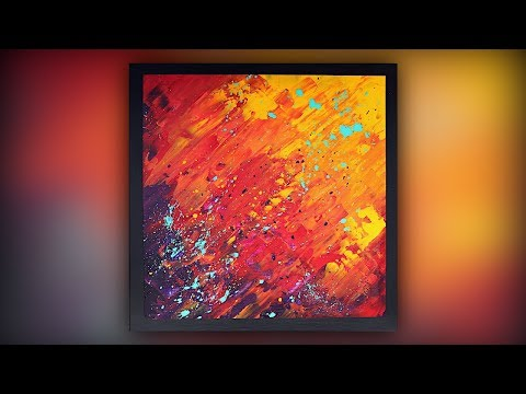Abstract Painting / Easy for Beginners / Palette Knife / Demo #051