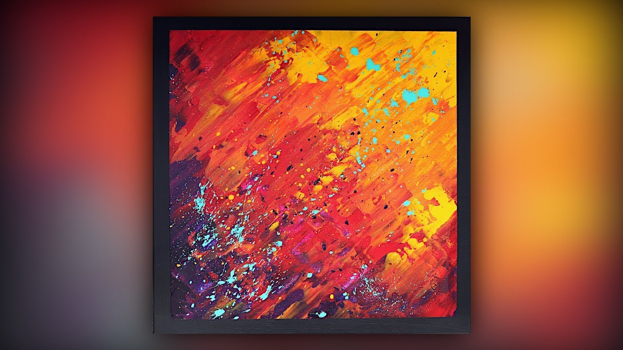 Abstract Painting / Easy for Beginners / Palette Knife