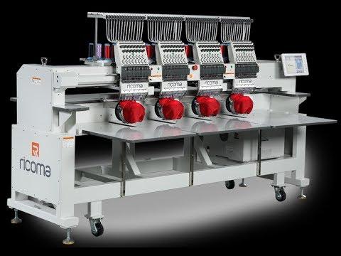 видео: Четырехголовочная вышивальная машина Ricoma CHT2 1504