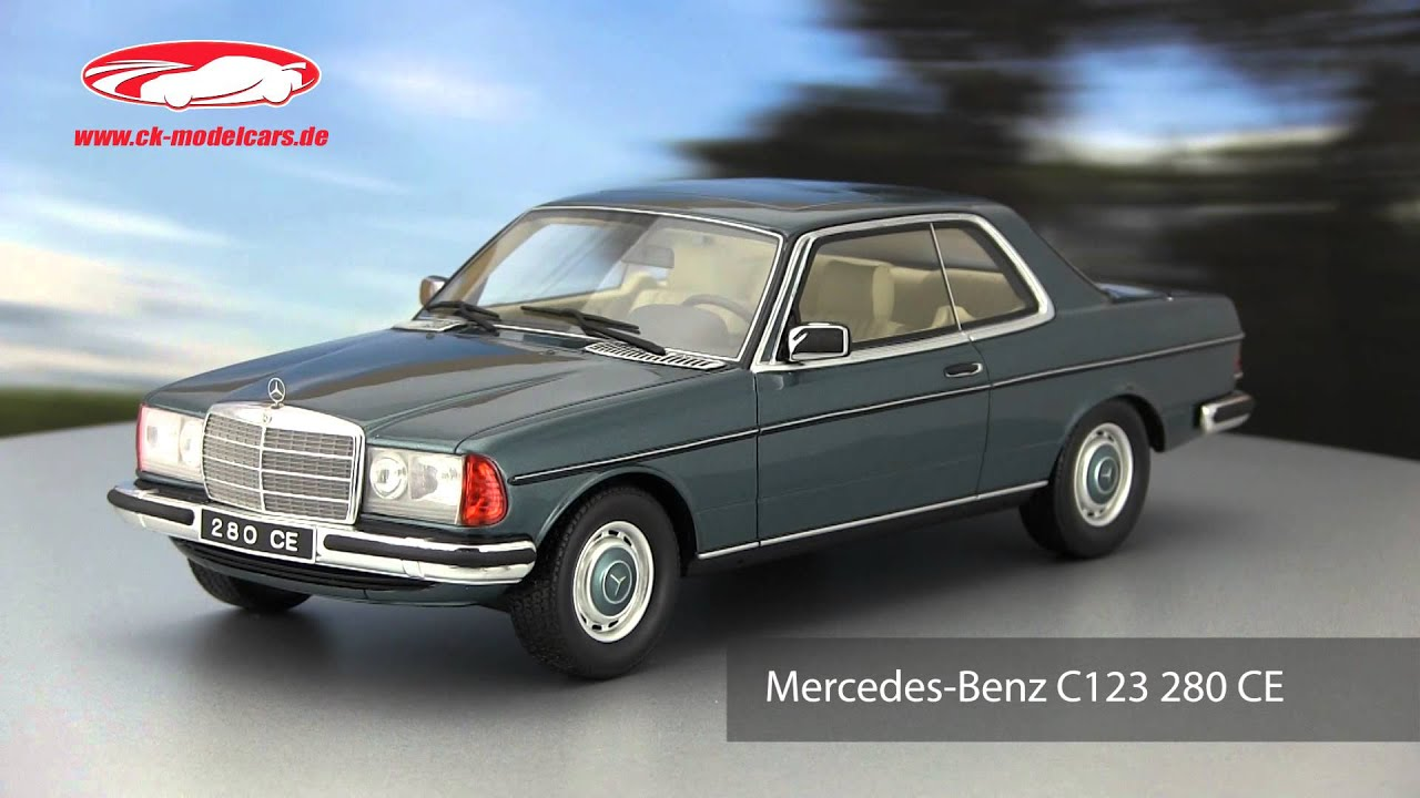 ck modelcars video mercedes benz c123 280 ce ottomobile youtube. Black Bedroom Furniture Sets. Home Design Ideas