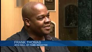 Frank Thomas tours Baseball Hall of Fame
