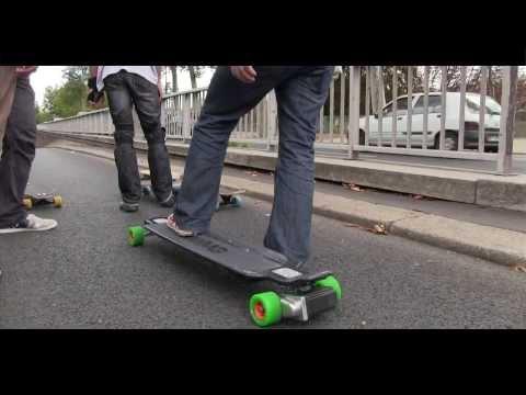 Paris en skateboard électrique