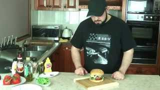 Cafe Style Beef Burger - Gourmet Ep.1