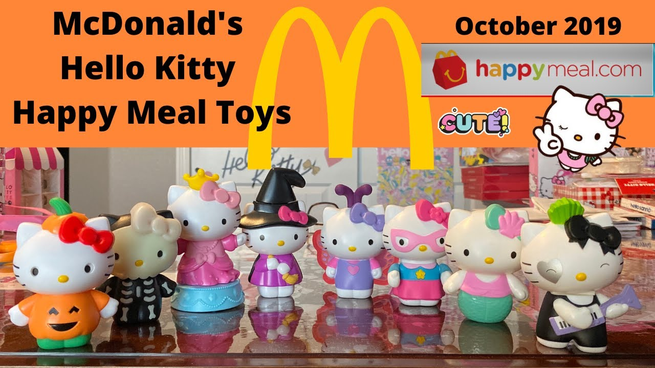 Happy Meal Toys For Halloween 2020 McDonald's Hello Kitty Happy Meal toys Oct 2019   YouTube