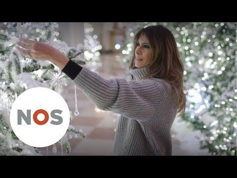 KERST: Melania Trump versiert het Witte Huis