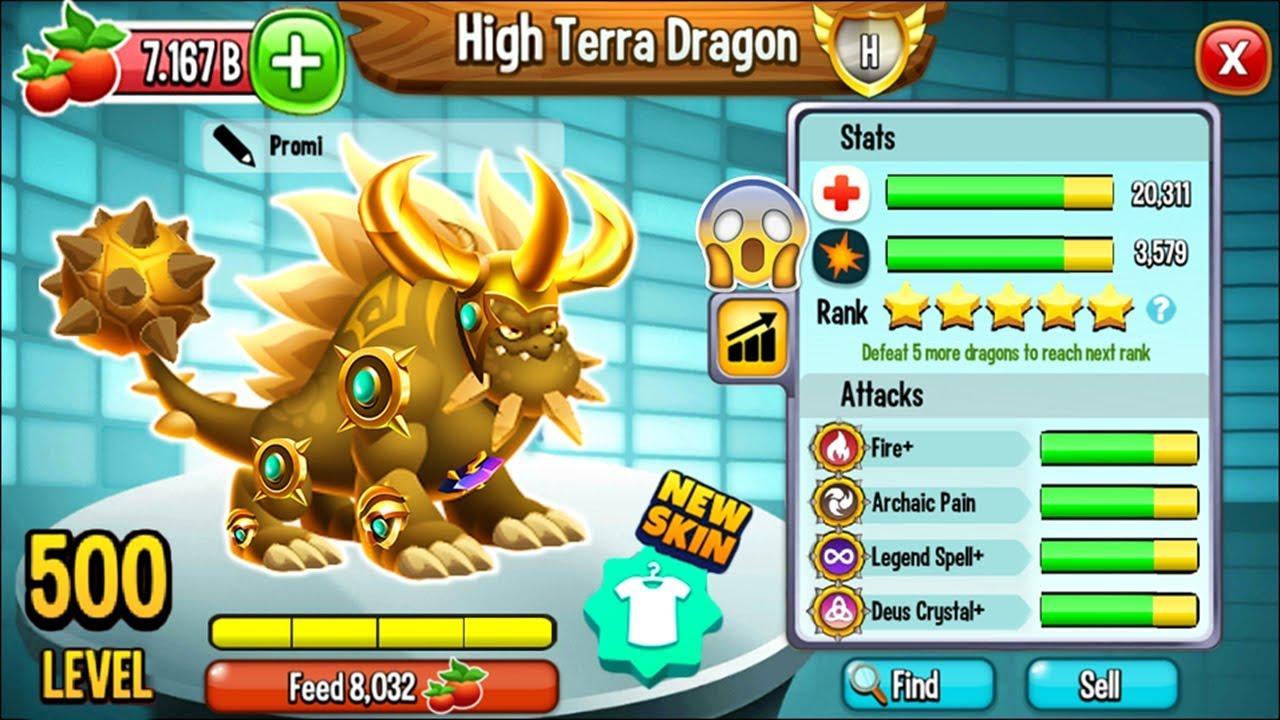 Download Dragon City - High Terra Dragon LEVEL 500 MAX [Congratulation from Deus] 😱