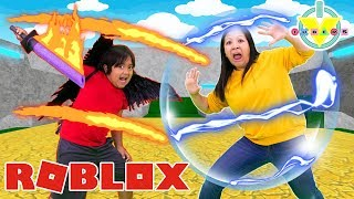 RYAN VS MOMMY IN ROBLOX ! Let's Play Roblox Elemental Battlegrounds !