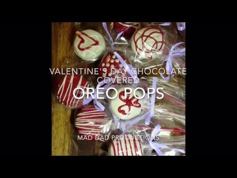 Valentine's Day Chocolate Covered Oreo Pops