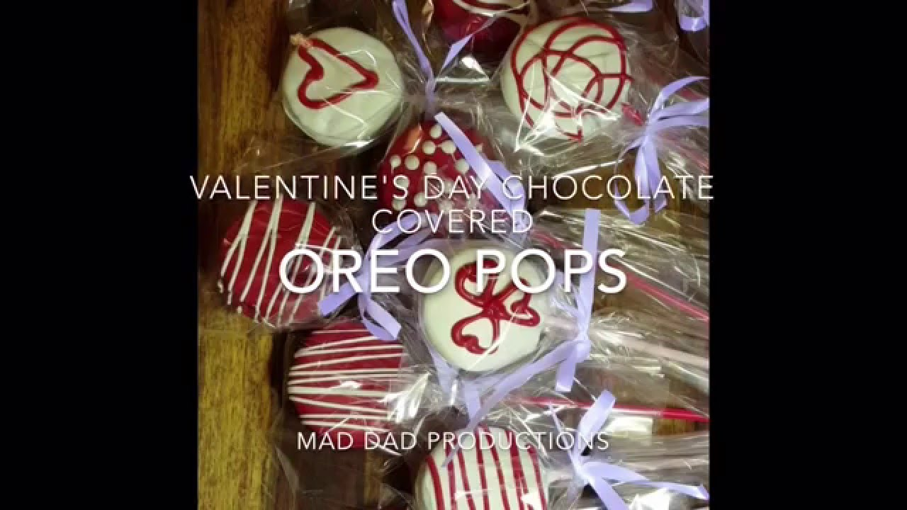 Valentine S Day Chocolate Covered Oreo Pops Youtube