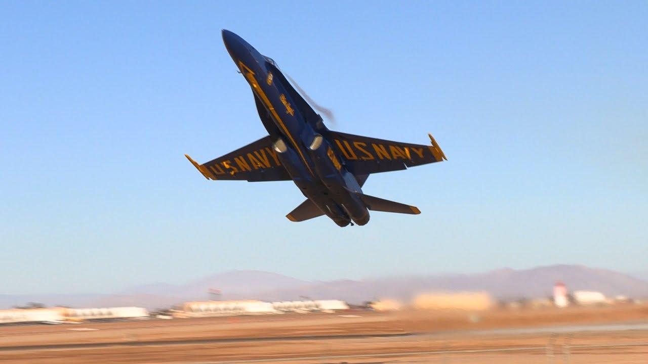 incredible blue angel 6 takeoff! - youtube