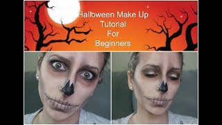 Halloween Make Up  Tutorial For Beginners