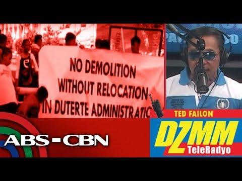 DZMM TeleRadyo: Informal settlers use pedicabs, basketball court as barricade vs demolition
