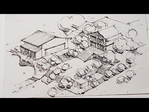 Проектная графика. Как нарисовать. Перо, Линер, ручка. Скетчинг. Стрим из Италии. Эдуард Кичигин