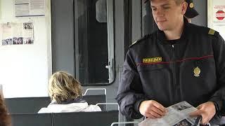 2019-07-10 г. Брест. Рейд транспортной милиции: кражи в поездах. Новости на Буг-ТВ. #бугтв