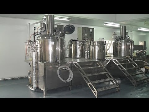 Cosmetics cream lotion manufacturing equipment vacuum emulsifier homogenizing machines Instruction