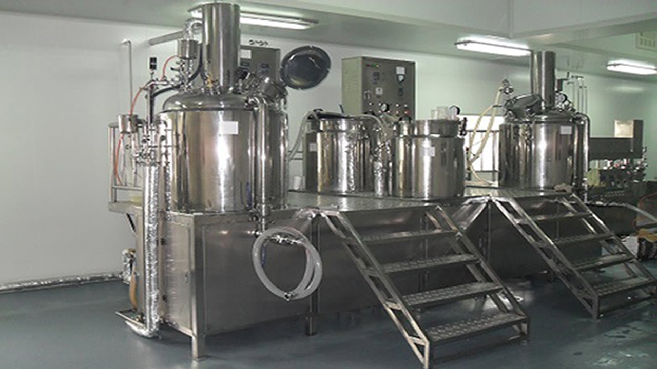 Cosmetics Cream Lotion Manufacturing Equipment Vacuum