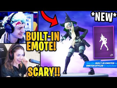 "Streamers React to the *NEW* ""HEMLOCK"" Witch Skin & BUILT IN Witch Craft Emote!