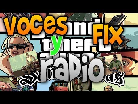 Como poner las voces de los personajes y radio en GTA San Andreas PC