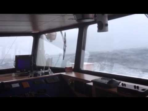 Coaster in bad weather bay of biscay