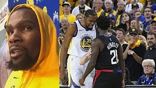 Kevin Durant On Beef With Patrick Beverly Before Game 3 vs Clippers! Warriors vs Clippers