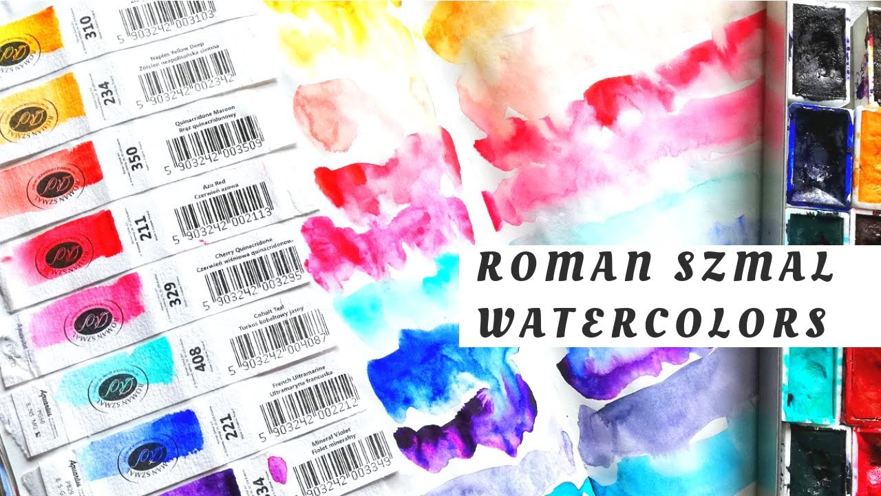Roman Szmal Aquarius (Polish) Watercolors- Swatching & First Impressions -  YouTube