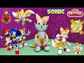 Play Doh and Plastilina Figures - How to Play Doh Cartoon Character Sonic Friend Tails