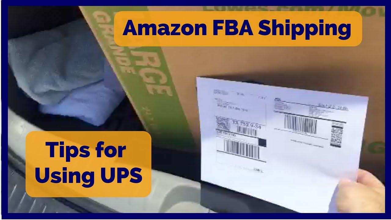 Amazon FBA Shipping - Tips for Using UPS