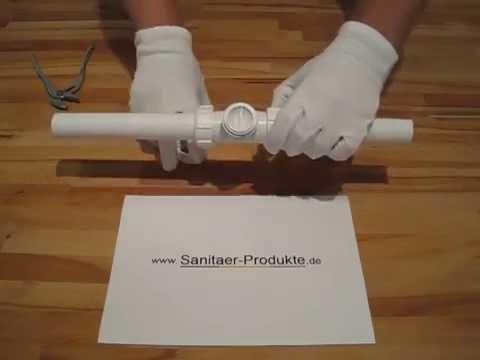 Ruckstauklappe Dn 32 Einbau Reinigung Montageanleitung Youtube
