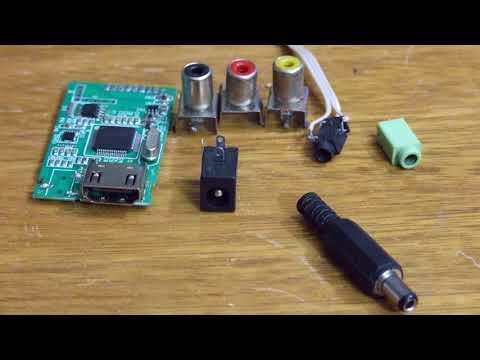 """Conversor De Componentes (YPbPr) A HDMI """"Casero Y Barato"""""""