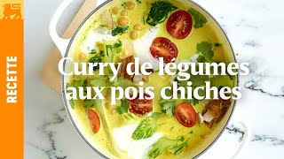 Curry de légumes au pois chichies