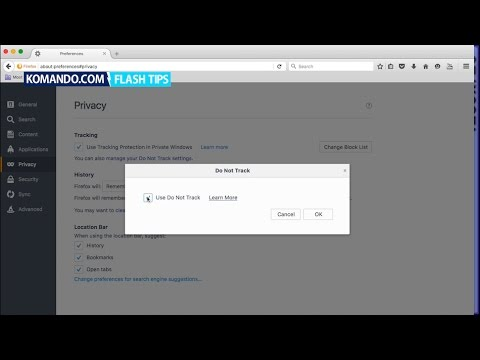 Disable Web Browser Tracking