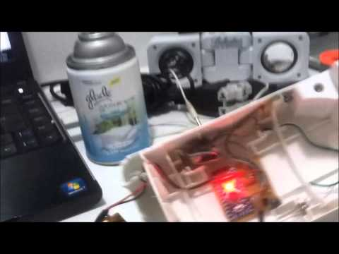 Hacked - Automatic Spray (Glade Air Fresh) - Triggering Via Sound Pattern