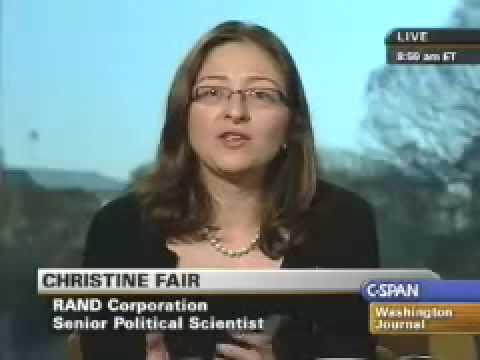 Pakistan ISI LeT Mumbai Christina Fair on C Span Part 3