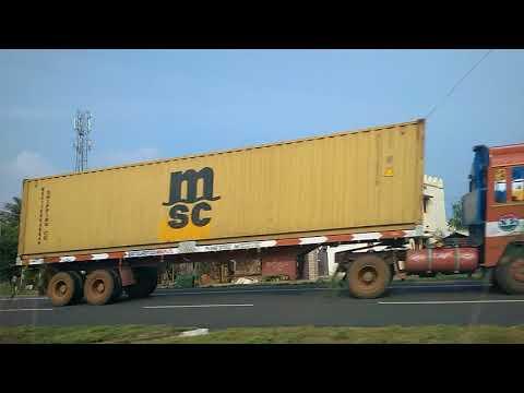 Driving in Coimbatore India video 28 - love this farmland area