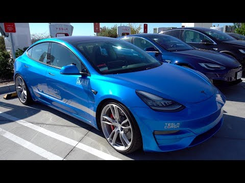 Unplugged Performance Tesla Model 3 at Cars and Coffee