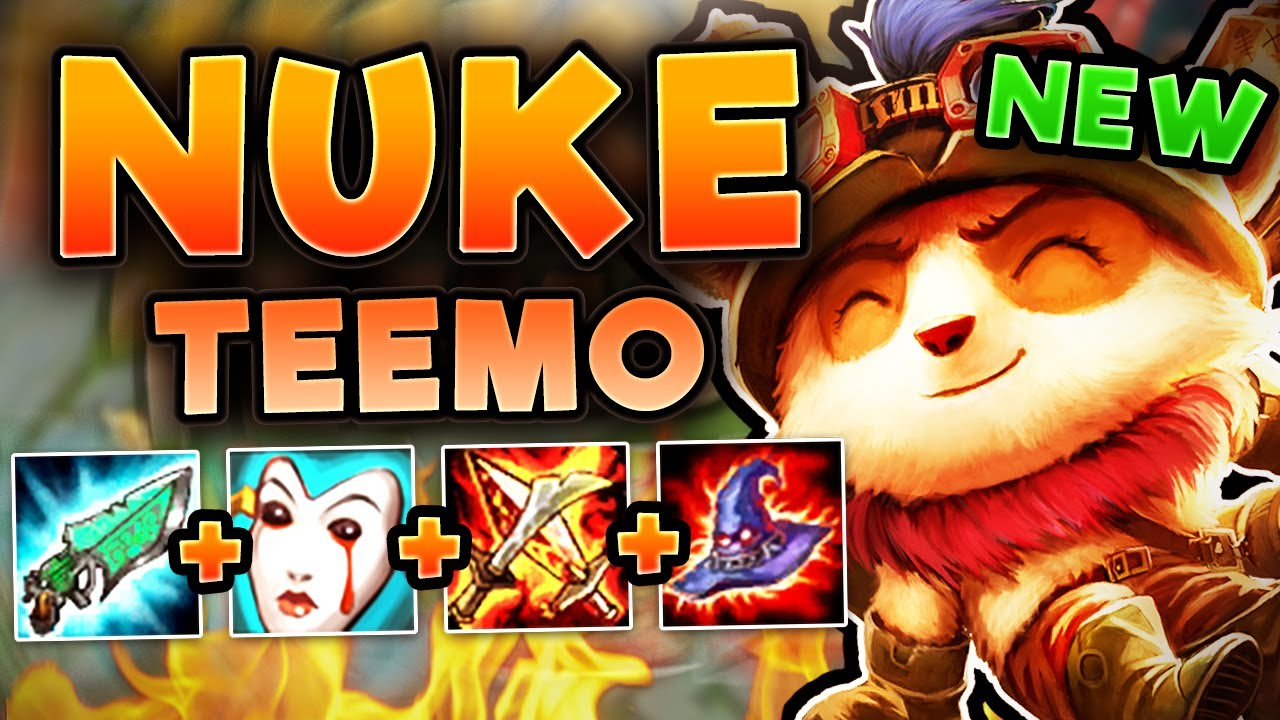 Why Is This New Nuke Teemo Build So Busted New Best Teemo Top Build Season 7 League Of Legends Youtube