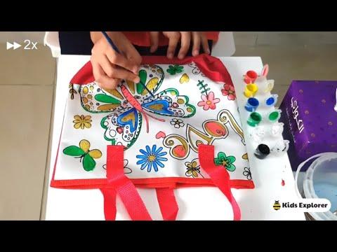 Painting Tote Bag | DIY by Kids Explorer