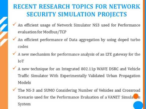 NETWORK SECURITY SIMULATION PROJECTS