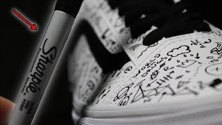 Custom VANS using ONLY a SHARPIE!!! (Giveaway)