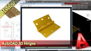 AutoCAD 3D Modeling Hinges Tutorial Practice Exercise 41
