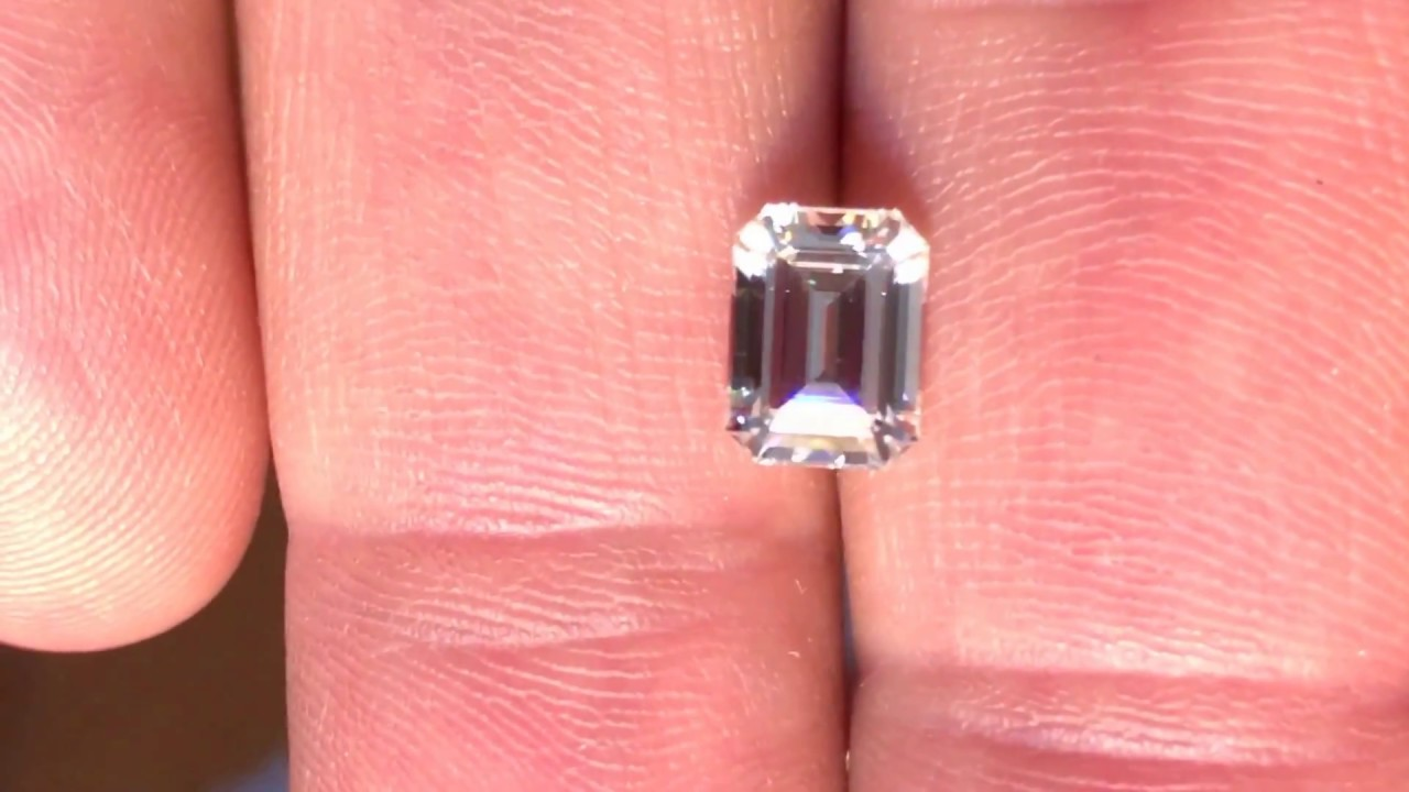 Forever One Moissanite Colorless Emerald Step Cut at AfricaGems ...