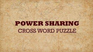 power sharing class 10 | crossword puzzle | cbse 10th | civics | social science |ncert class 10
