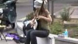 Japanese Street Musicians Shamisen
