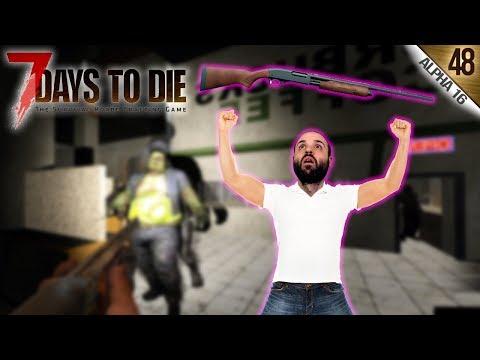 7 DAYS TO DIE A16 #48 | LA ESCOPETA PERFECTA AL 100% | Gameplay Español