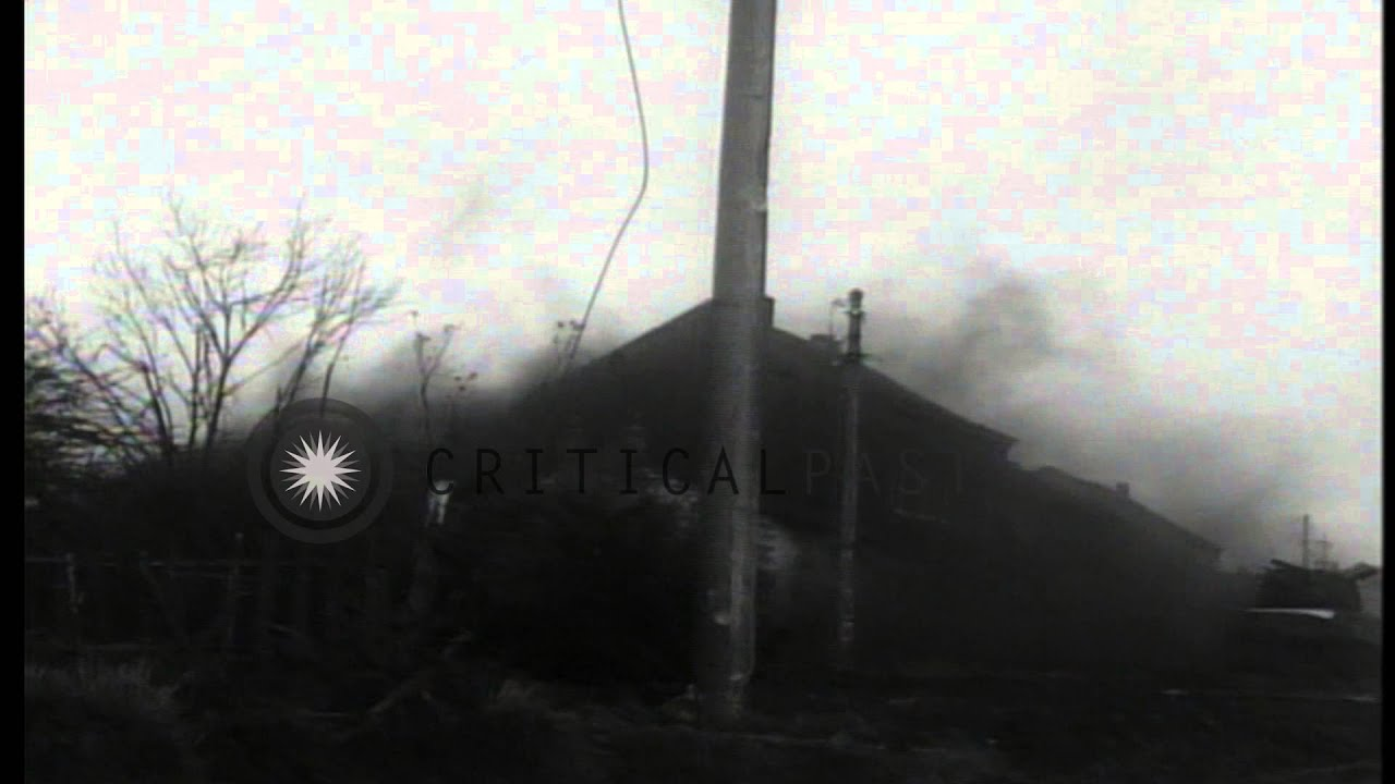 US troops face German 88mm shell fire near front line positions in  Stolberg, Germ   HD Stock Footage by CriticalPast